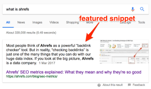 what-is-ahrefs-featured-snippet